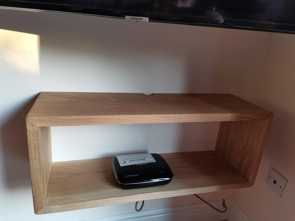 Bespoke Tv floating shelf Berkshire