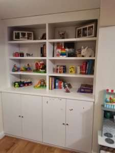 Toy shelves bespoke berkshire